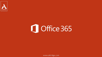Microsoft Office 365 logo on orange background.